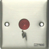 miTEC MSA-210M Stainless Steel Panel Panic Button w/Reset Flush Mount Type